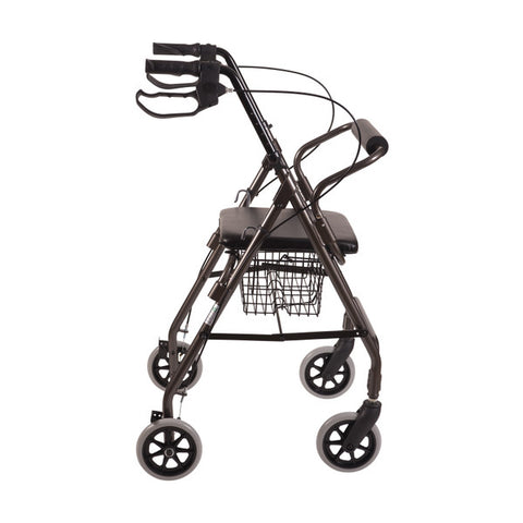 Healthsmart: Dmi® Ultra Lightweight Folding Aluminum Rollator Walker - 501-1012-0700 - Side View