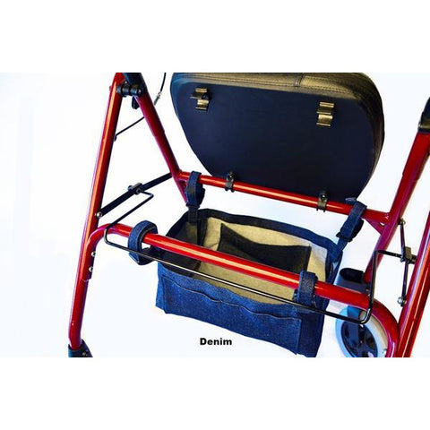 Granny Jo Products: Underseat Rollator Bag - Denim Color