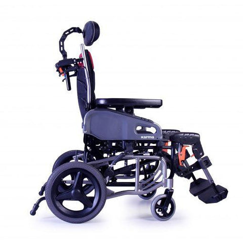 Karman Healthcare: Space & Reclining Transport Wheelchair  – VIP2-TR side view