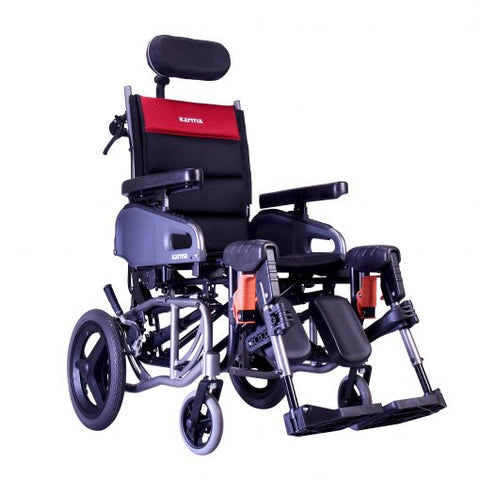 Karman Healthcare: Space & Reclining Transport Wheelchair  – VIP2-TR main image