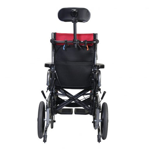 Karman Healthcare: Space & Reclining Transport Wheelchair  – VIP2-TR back view