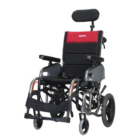 Karman Healthcare: Space & Reclining Transport Wheelchair  – VIP2-TR folded