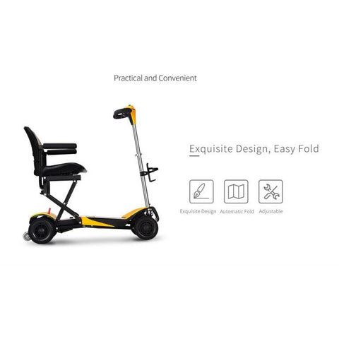 Karman Healthcare: Volare Foldable Power Wheelchair  –  SC-F100 side view