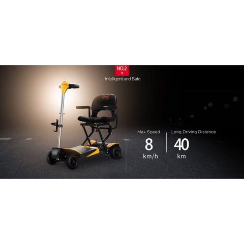 Karman Healthcare: Volare Foldable Power Wheelchair  –  SC-F100 speed