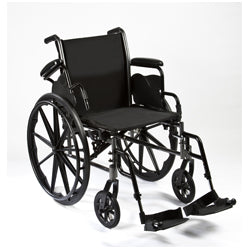 "Compass Health: Roscoe Reliance III Wheelchair (20"" with Swing Away Footrests) - W32016S Main View"