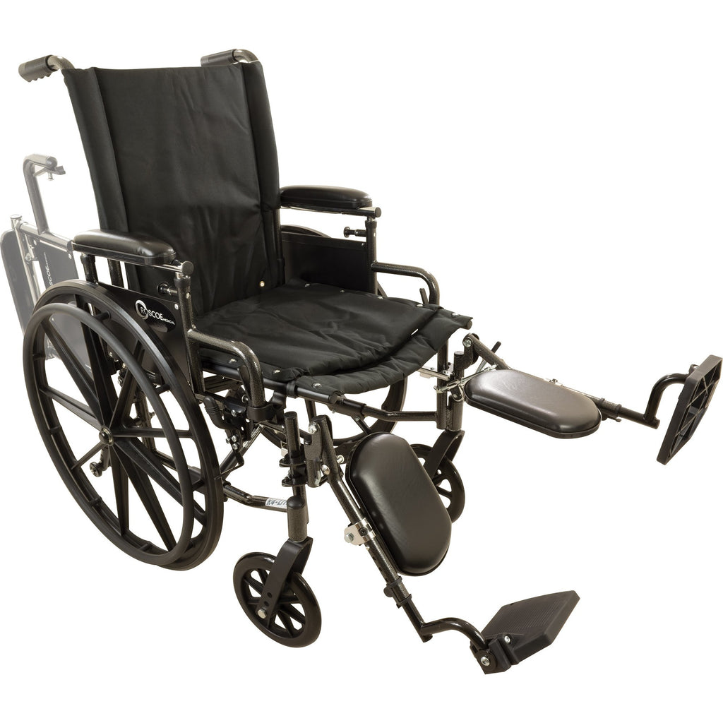 "Compass Health: Roscoe Onyx K4 Wheelchair (16"" with Elevating Legrests) - W416168E Main View"