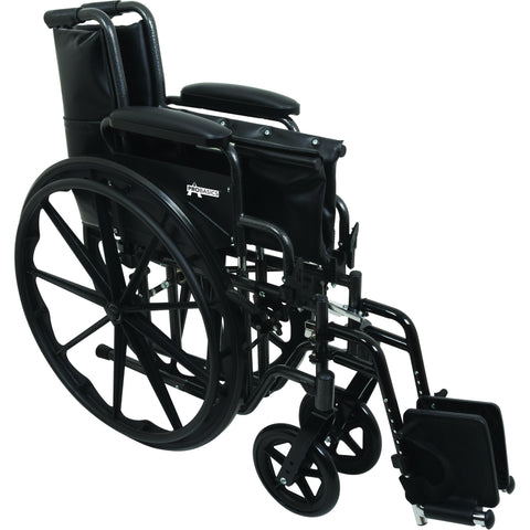 "Compass Health: ProBasics K2 Wheelchair with 18"" x 16"" Seat and Swing-Away Footrests - WC21816DS Folding View"