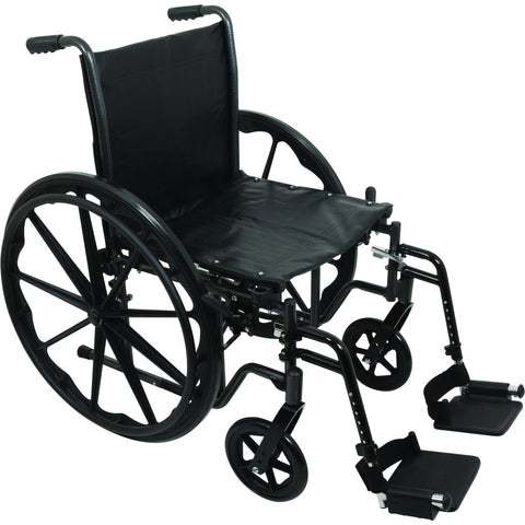"Compass Health: ProBasics K2 Wheelchair with 18"" x 16"" Seat and Swing-Away Footrests - WC21816DS With Out Arms rest"