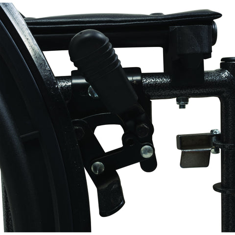 "Compass Health: ProBasics K2 Wheelchair with 18"" x 16"" Seat and Swing-Away Footrests - WC21816DS Brake"