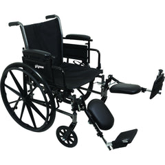 "Compass Health: ProBasics K3 Lightweight Wheelchair with 20"" x 16"" Seat, Flip-Up Height Adj Desk Arms, Elevating Legrests - WC32016DE Main View"