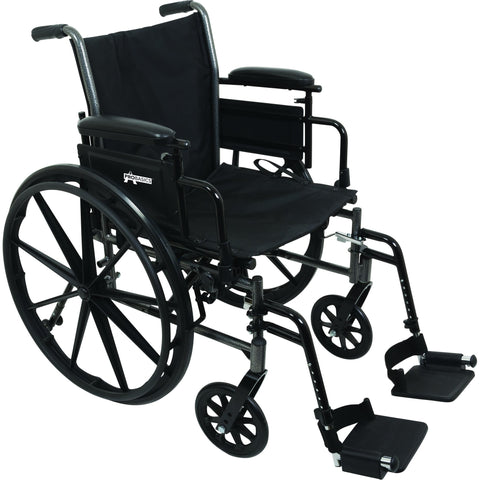 "Compass Health: ProBasics K3 Lightweight Wheelchair with 16"" x 16"" Seat, Flip-Up Height Adj Desk Arms, Swing-Away Footrests - WC31616DS Main View"