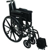 "Compass Health: ProBasics High Performance Lightweight K0004 Wheelchair, 20"" x 16"" Seat with Elevating Leg Rests, 300 lb Weight Capacity - WC42016DE Folding View"