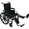 "Compass Health: ProBasics High Performance Lightweight K0004 Wheelchair, 20"" x 16"" Seat with Elevating Leg Rests, 300 lb Weight Capacity - WC42016DE Foot rest"