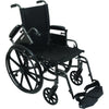 "Compass Health: ProBasics High Performance Lightweight K0004 Wheelchair, 20"" x 16"" Seat with Elevating Leg Rests, 300 lb Weight Capacity - WC42016DE Removable Arms rest"