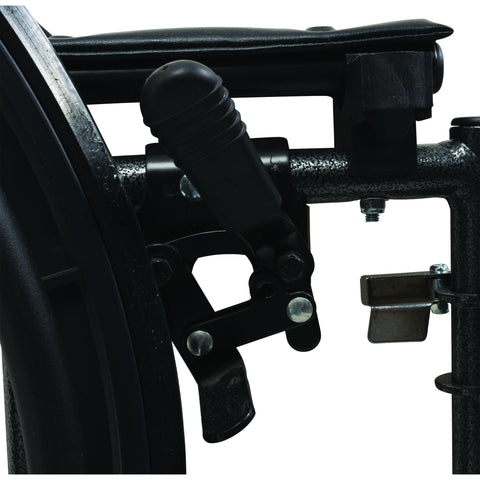 "Compass Health: ProBasics High Performance Lightweight K0004 Wheelchair, 18"" x 16"" Seat with Swing-Away Footrests, 300 lb Weight Capacity - WC41816DS Brake"