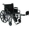 "Image of Compass Health: ProBasics Heavy Duty K0007 Wheelchair, 28"" x 20"" Seat with Footrests, 600 lb Weight Capacity - WC72820DS Main View"