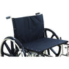 "Image of Compass Health: ProBasics Heavy Duty K0007 Wheelchair, 28"" x 20"" Seat with Footrests, 600 lb Weight Capacity - WC72820DS Front Seat View"