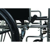 "Image of Compass Health: ProBasics Reclining Wheelchair, 22"" x 17"", Removable Desk Arms & ELRs - WCR2218E Rear Wheel Brake"