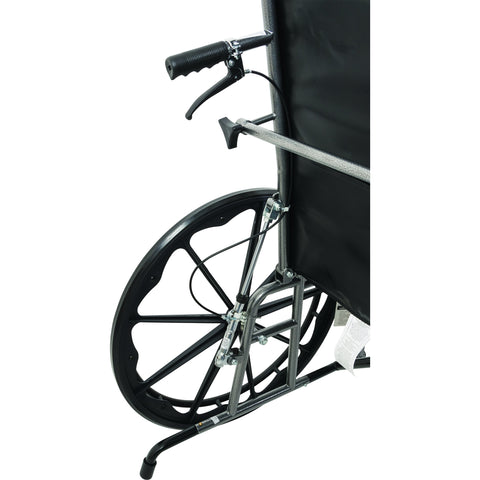 "Compass Health: ProBasics Reclining Wheelchair, 22"" x 17"", Removable Desk Arms & ELRs - WCR2218E Brake"