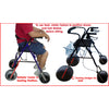 Image of Debug Mobility: Foldable Lightweight All-Terrain Walker - Walker Seated Position