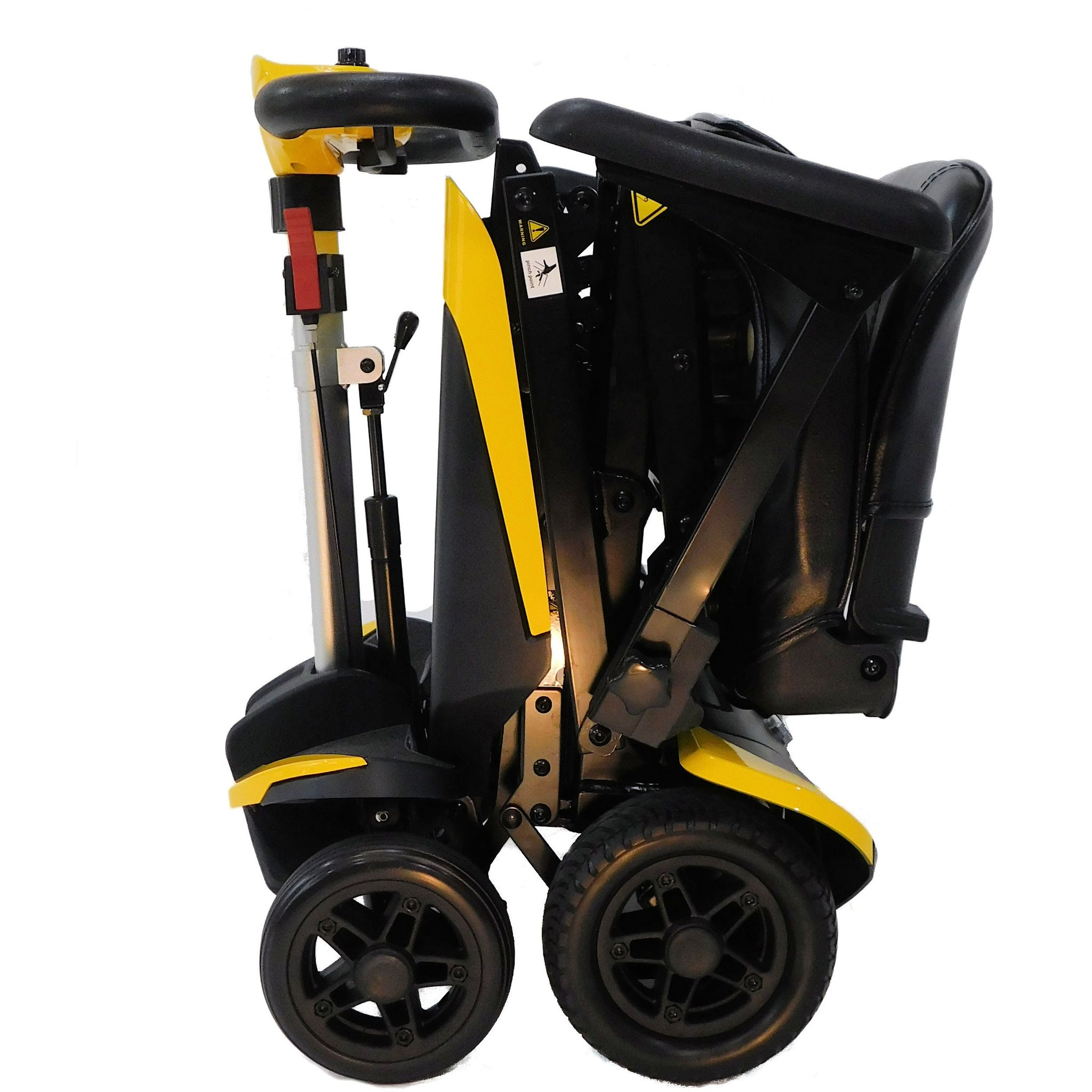 Enhance Mobility: Transformer Scooter (Automatic Folding Scooter) - S3021 - Yellow Color Fold View