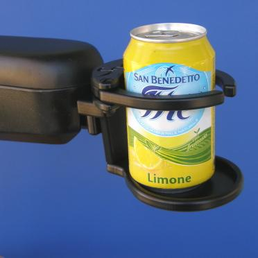 Snap It Products: Power Chair Adjustable Drink Holder - A001A - Side View
