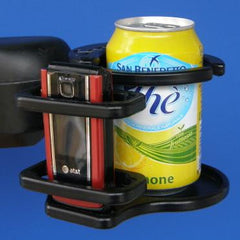 Snap It Products: Power Chair Combination of Cell Phone/Adjustable Drink Holder - A0015A - Combine View