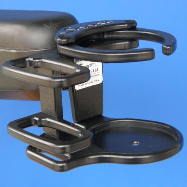 Snap It Products: Power Chair Combination of Cell Phone/Adjustable Drink Holder - A0015A - Actual View