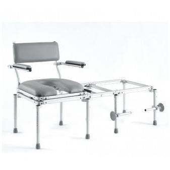 Nuprodx All-in-One Stationary Commode Chair, Shower Chair, and Tub Transfer System