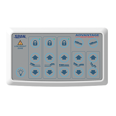 Span-America: Advantage ReadyWide Bed - Controller View