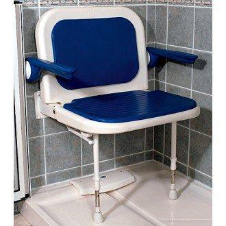 AKW: Wide Padded Shower Seat with Back and Arms