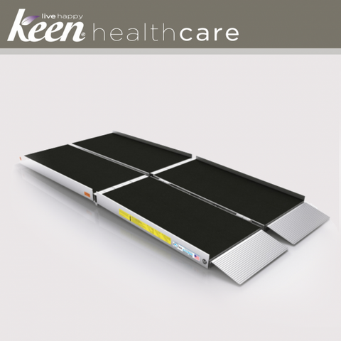Keen Healthcare: Ez-Access Suitcase® Trifold As Ramp 8′ x 29.5″ 800lb Cap - EFFEZTRAS8 - Side View