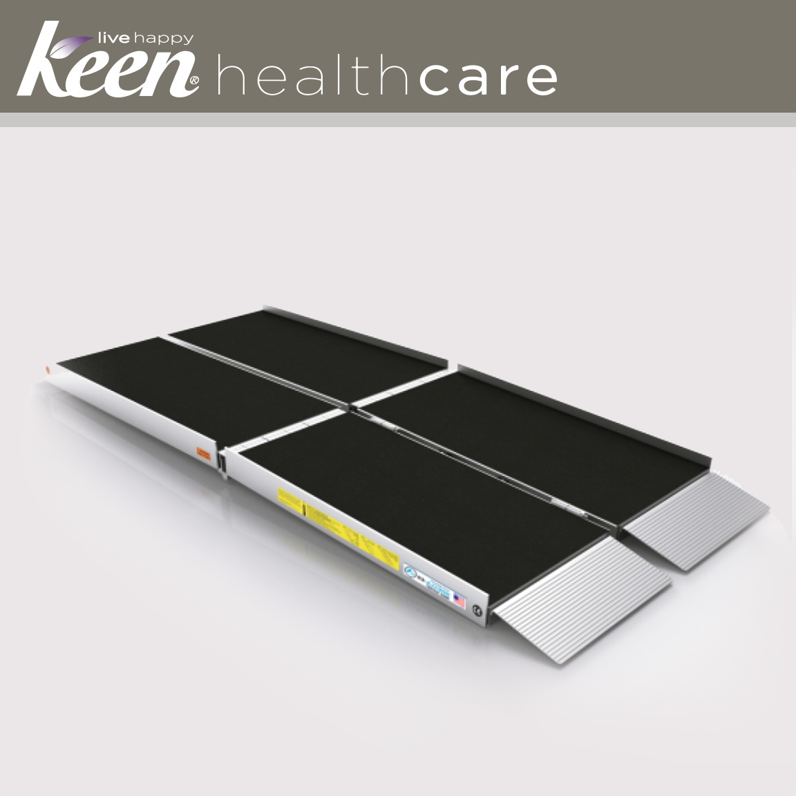 Keen Healthcare: Ez-Access Suitcase® Trifold As Ramp 8′ x 29.5″ 800lb Cap - EFFEZTRAS8 - Actual Image