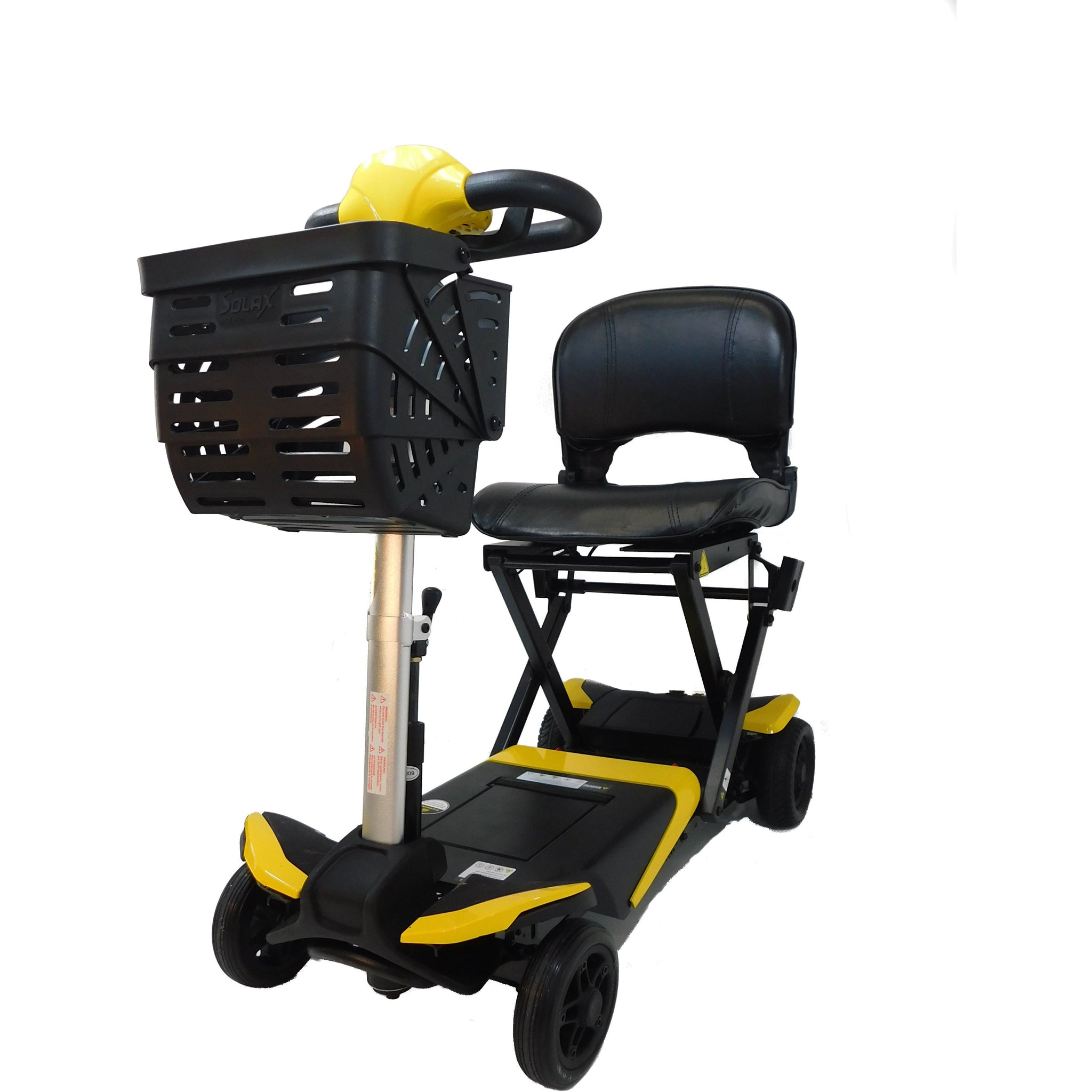 Enhance Mobility: Transformer Scooter (Automatic Folding Scooter) - S3021 - Yellow Color Front View