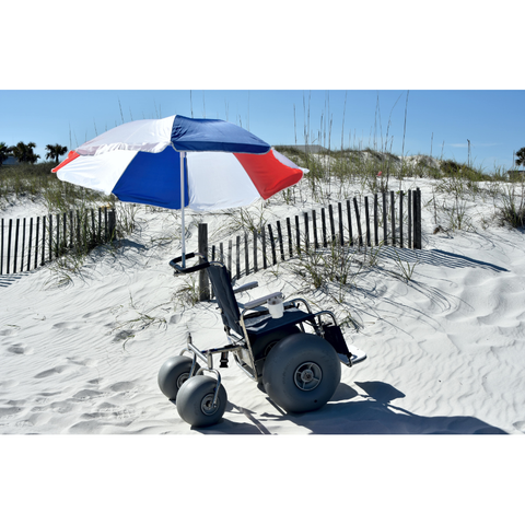 Debug Mobility: Fixed Frame All-Terrain Beach Wheelchair - Side View