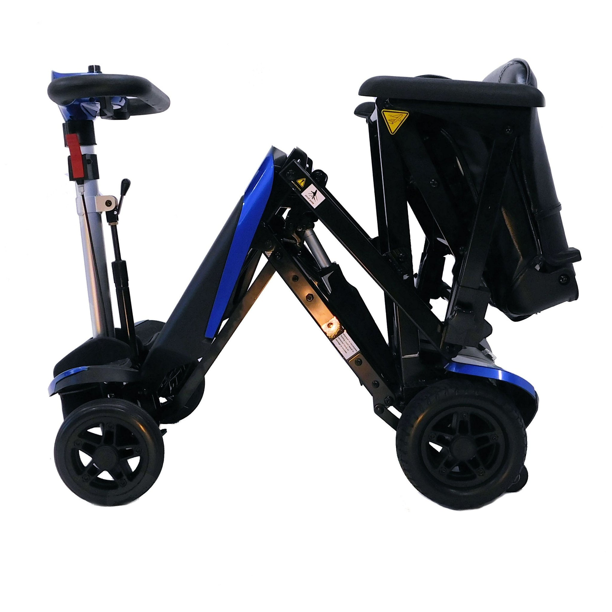 Enhance Mobility: Transformer Scooter (Automatic Folding Scooter) - S3021 - Blue Color Fold View