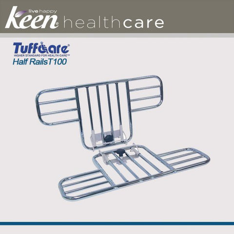 Keen Healthcare: Tuffcare® Half Bed Rails for T4020 Full Electric Bed Frame - TCT110W - Front View