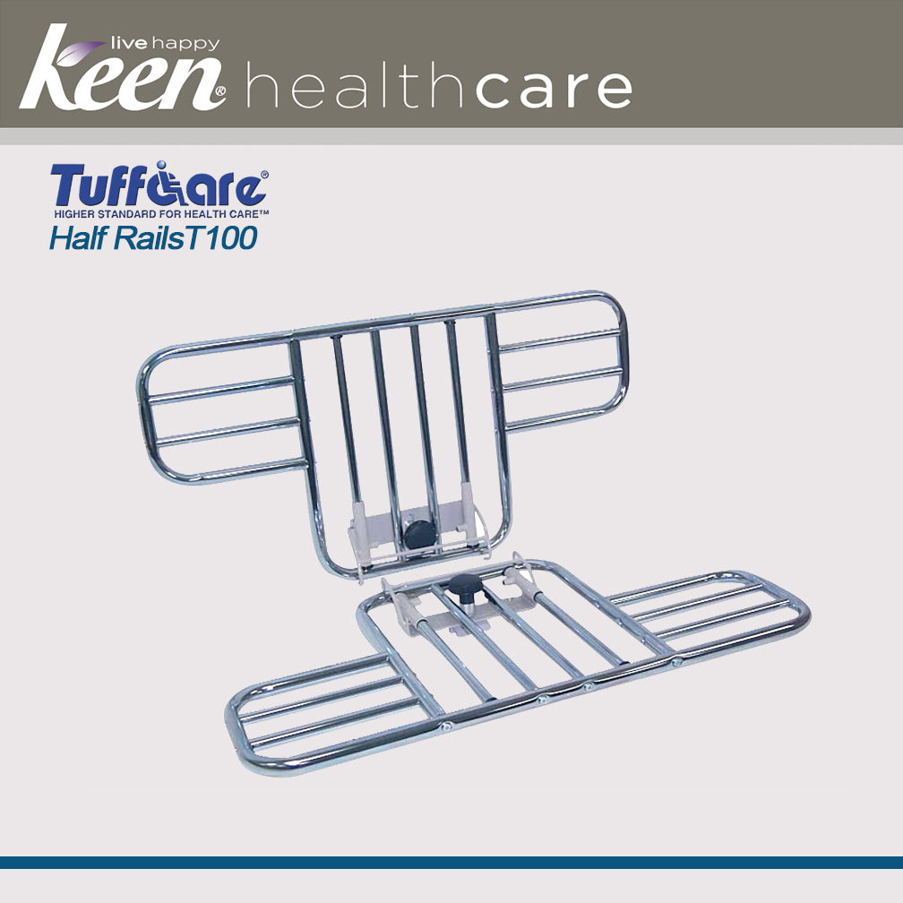 Keen Healthcare: Tuffcare® Half Bed Rails for T4020 Full Electric Bed Frame - TCT110W - Actual Image