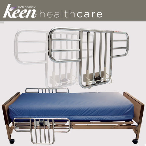 Keen Healthcare: Tuffcare® Half Bed Rails for T4020 Full Electric Bed Frame - TCT110W - Adjust With Bed