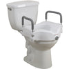 Image of Drive Medical: 2-in-1 Locking Raised Toilet Seat with Tool-free Removable Arms - RTL12027RA