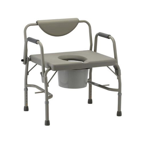 Nova: Heavy Duty Commode with Drop-Arm & Extra Wide Seat
