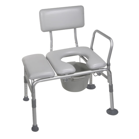 Drive Medical: Combination Padded Transfer Bench/Commode - 12005KDC-1