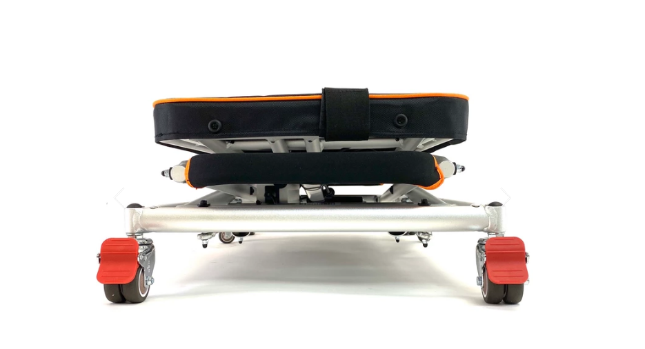 Explorer Mobility: GoLite Portable Mini Lift for Foldable Mobility Scooters and Power Wheelchairs - GL100BA - Front Folded View