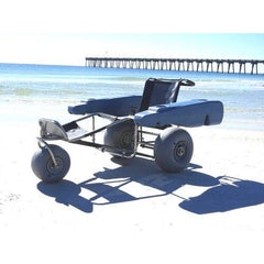 Beach Wheelchairs: EZ Roller Surf Chair - with optional pontoons.