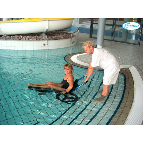 Vipamat: Hippocampe Swimming Pool Wheelchair - 0002-TS-02-BU - Pool View