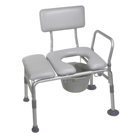 Drive: Padded Seat Transfer Bench with Commode Opening