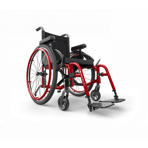 Motion Composites: Folding Wheelchairs Helio - A6 - Burgundy Color