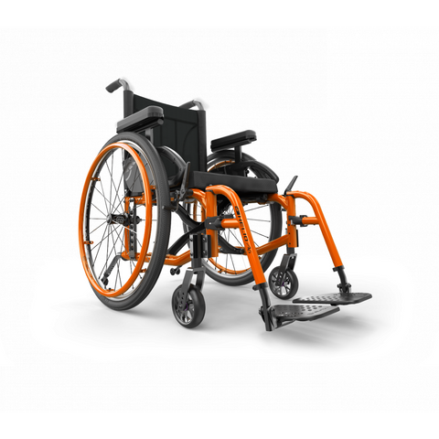 Motion Composites: Folding Wheelchairs Helio - A6 - Sunkissed Orange Color