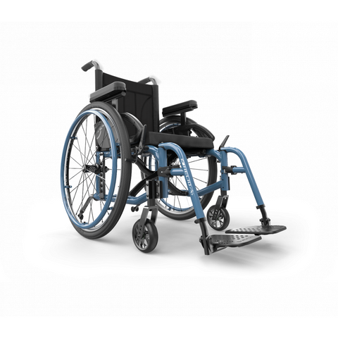 Motion Composites: Folding Wheelchairs Helio - A6 - Steel Blue Color