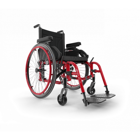 Motion Composites: Folding Wheelchairs Helio - A7 - Burgundy Color